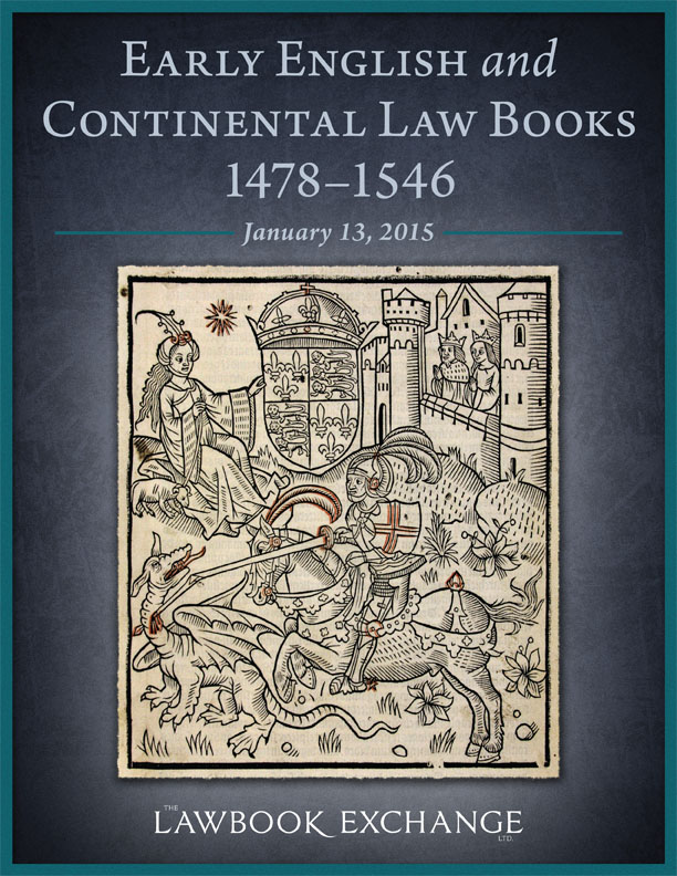 32 Early English and Continental Law Books, 1478-1546