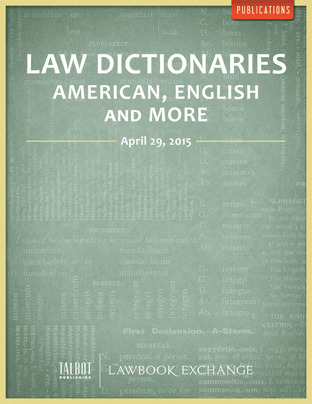 Law Dictionaries: American, English and More