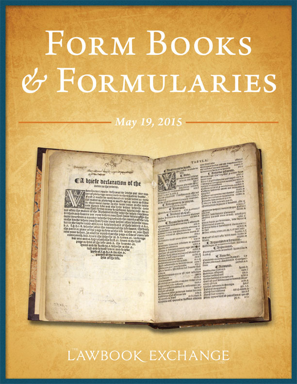 30 American and English Formbooks and Formularies