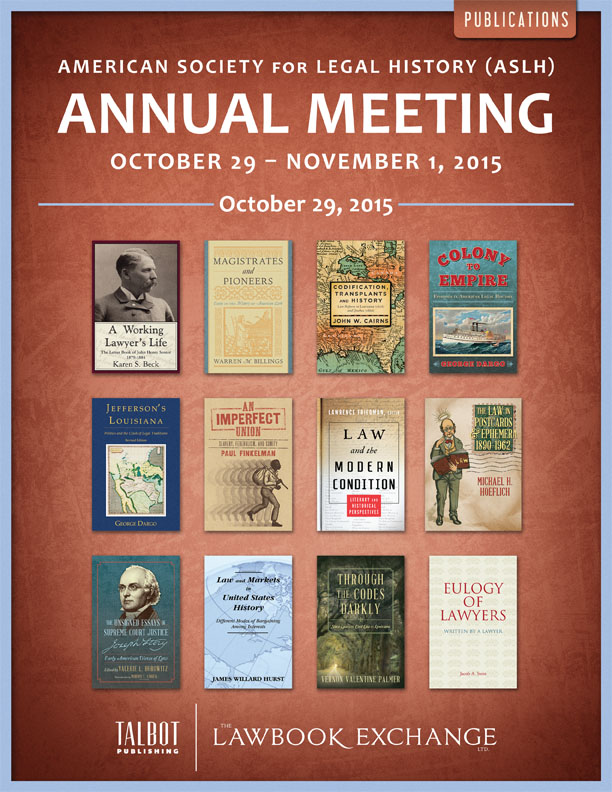 American Society for Legal History (ASLH) Annual Meeting