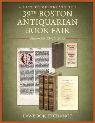 A List to Celebrate the 39th Boston Antiquarian Book Fair