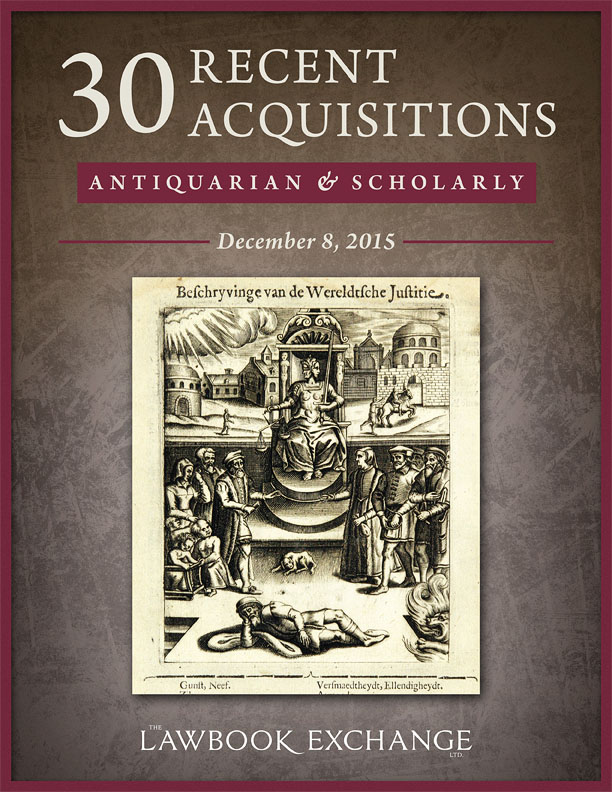 30 Recent Acquisitions: Antiquarian and Scholarly
