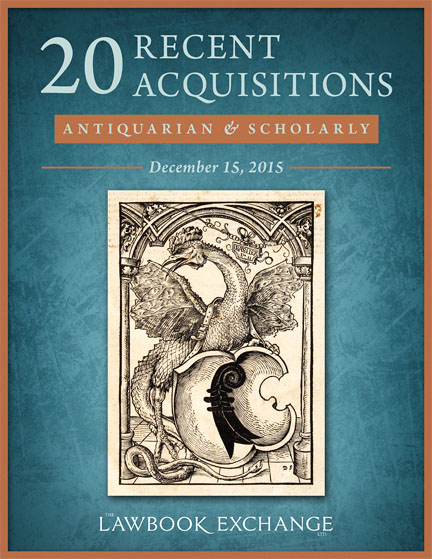 20 Recent Acquisitions: Antiquarian and Scholarly