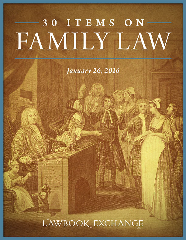 30 Items on Family Law