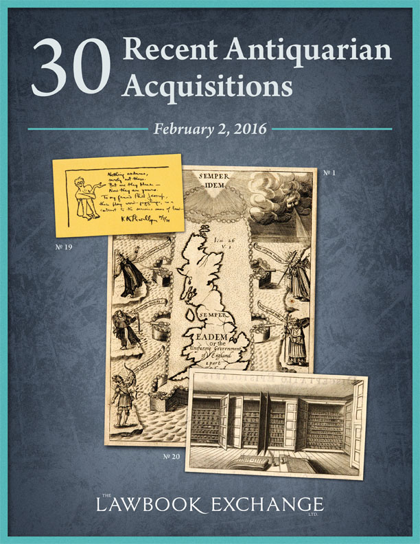 30 Recent Acquisitions Antiquarian & Scholarly