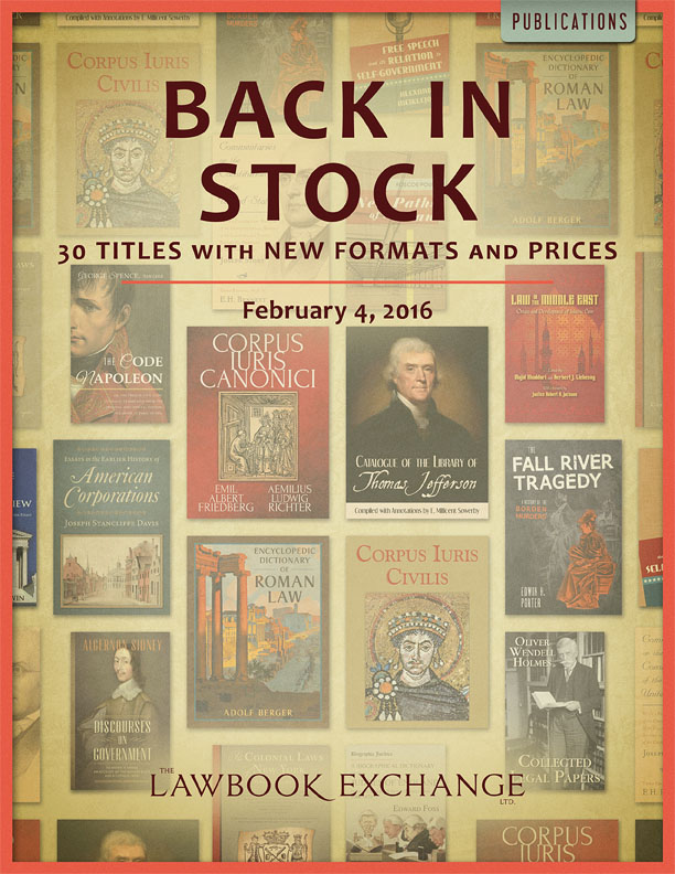 Back in Stock: 30 Titles with New Formats and Prices