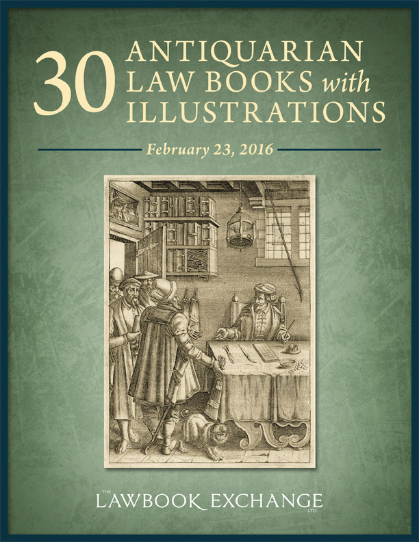 30 Antiquarian Law Books with Illustrations