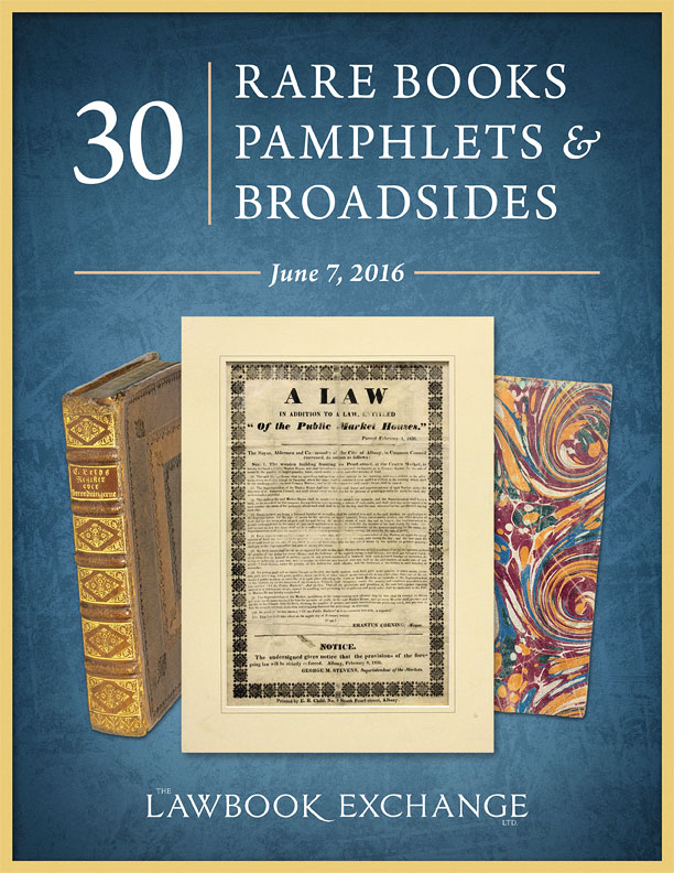 30 Rare Books, Pamphlets and Broadsides