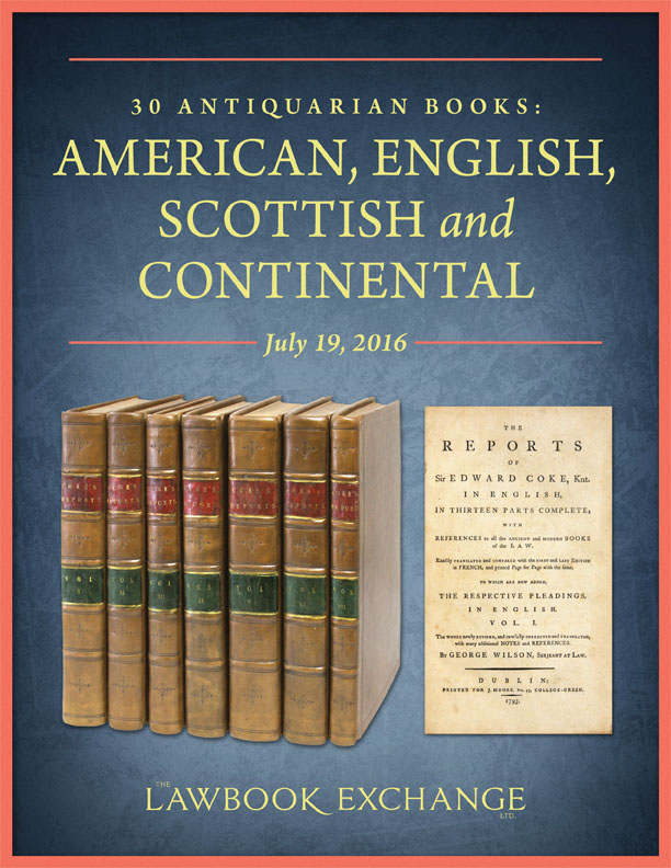 30 Antiquarian Books: American, English, Scottish and Continental