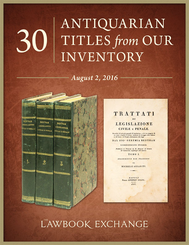 30 Antiquarian Titles from Our Inventory