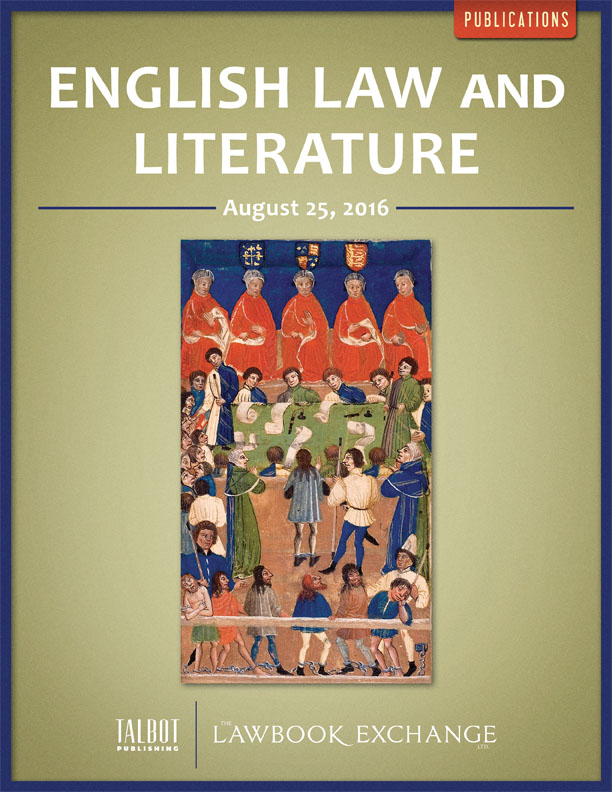 English Law and Literature