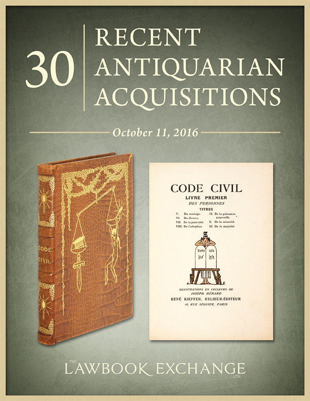 30 Recent Antiquarian Acquisitions