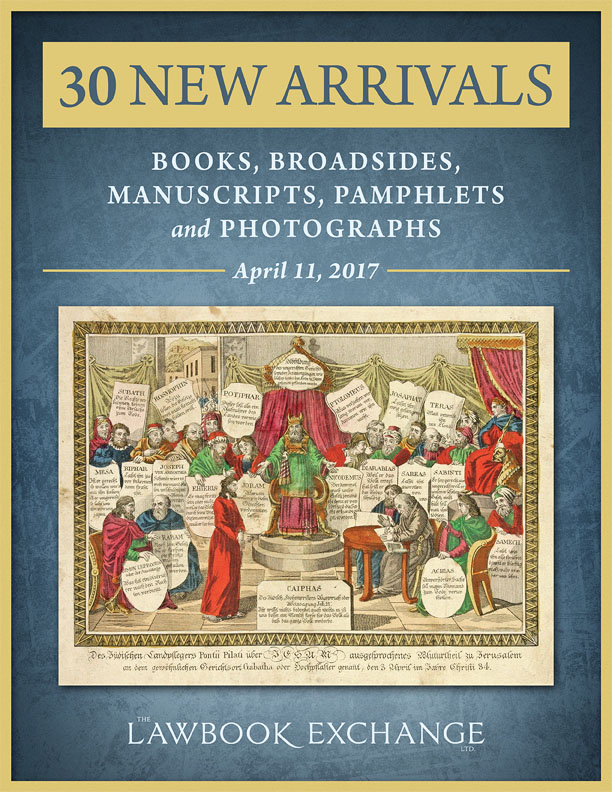 30 New Arrivals Books, Broadsides, Manuscripts, Pamphlets and Photographs