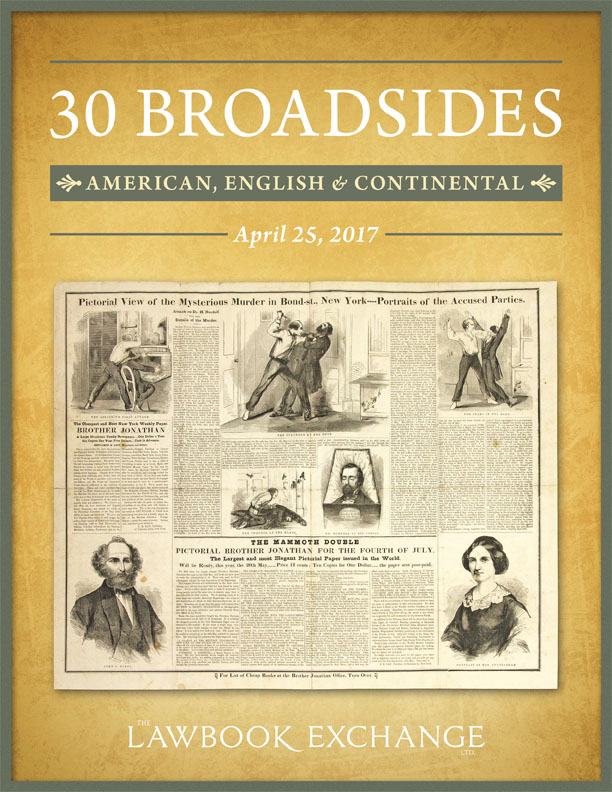 30 Broadsides: American, English and Continental