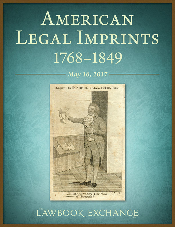 30 American Legal Imprints, 1768-1849
