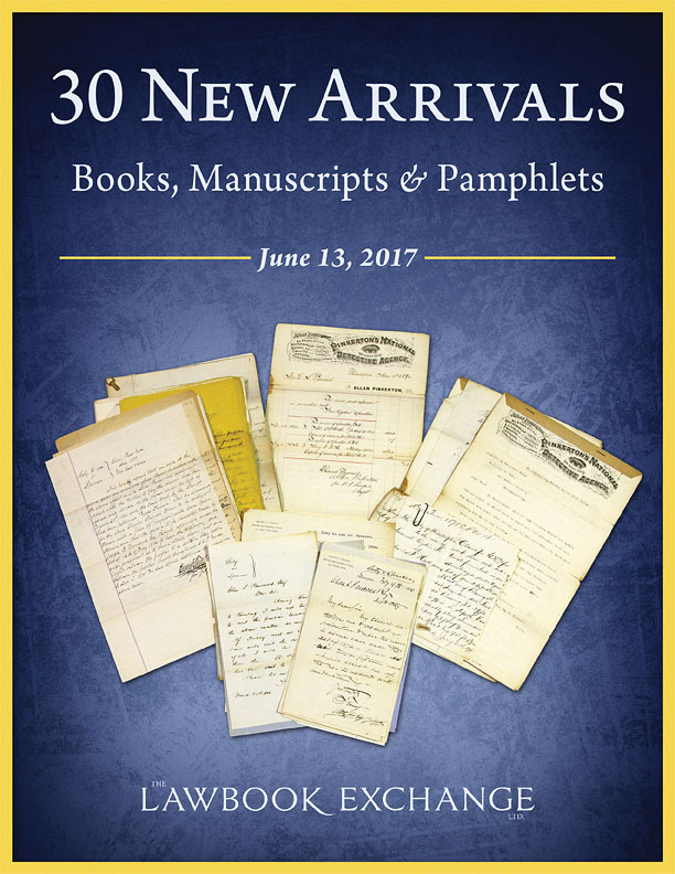 30 New Arrivals: Books, Manuscripts & Pamphlets