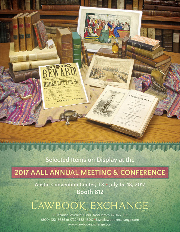 Items on Display at the 2017 AALL Annual Meeting and Conference