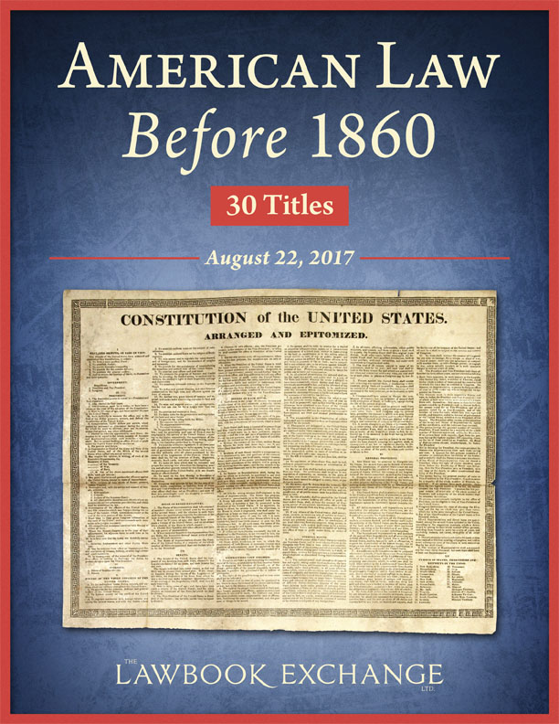 American Law Before 1860: 30 Titles