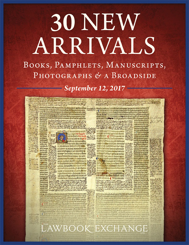 30 New Arrivals: Books, Pamphlets, Manuscripts, Photographs and a Broadside