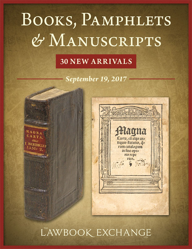 30 New Arrivals: Books, Pamphlets and Manuscripts