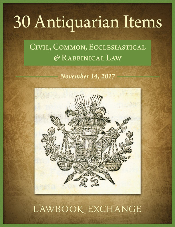 30 Antiquarian Items: Civil, Common, Ecclesiastical and Rabbinical Law