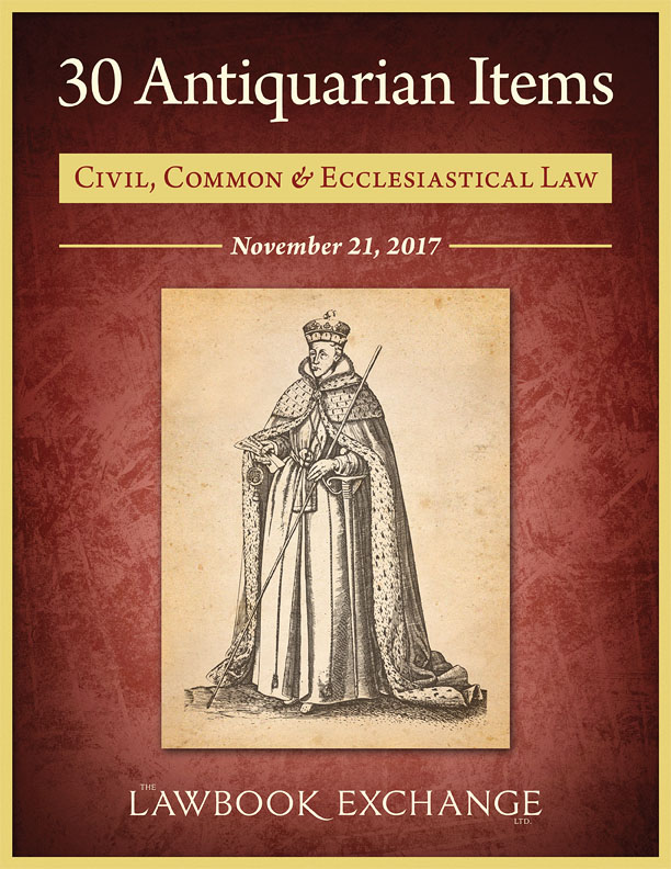 30 Antiquarian Items: Civil, Common and Ecclesiastical Law