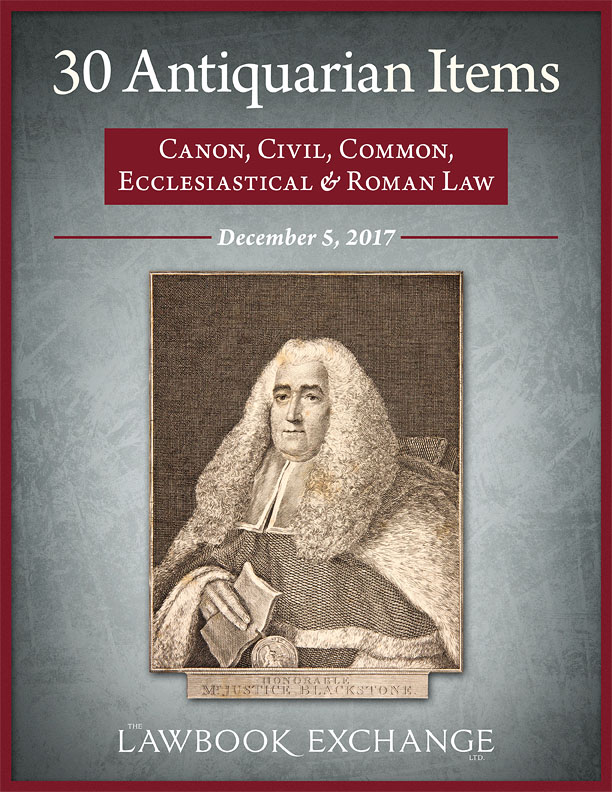 30 Antiquarian Items: Canon, Civil, Common, Ecclesiastical and Roman Law