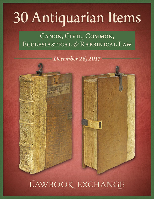 30 Antiquarian Items: Canon, Civil, Common, Ecclesiastical & Rabbinical Law