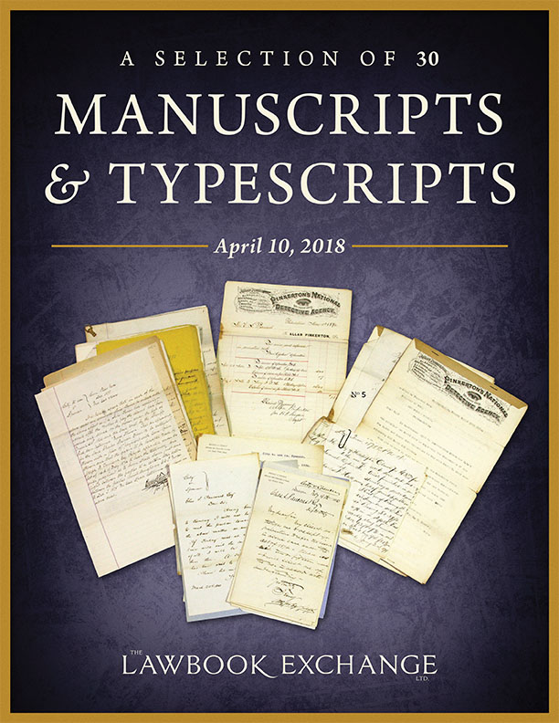 A Selection of 30 Manuscripts and Typescripts