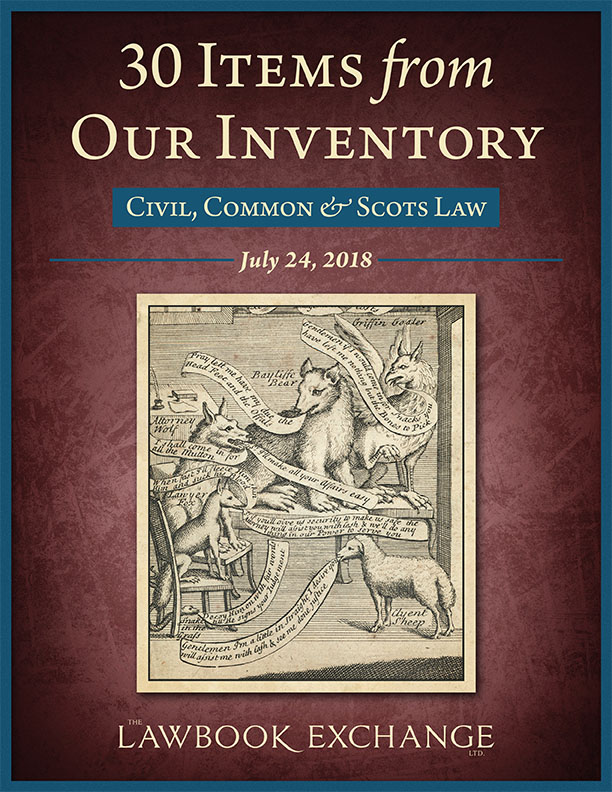 30 Items From Our Inventory: Civil, Common & Scots Law