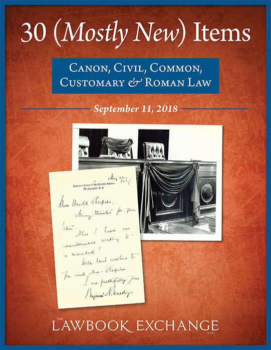 30 (Mostly New) Items: Canon, Civil, Common, Customary & Roman Law