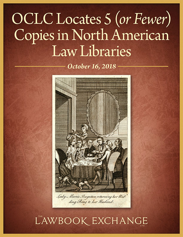 OCLC Locates 5 (or Fewer) Copies in North American Law Libraries