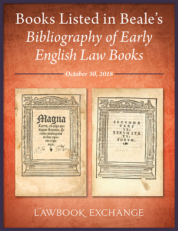 Books Listed in Beale's Bibliography of Early English Law Books