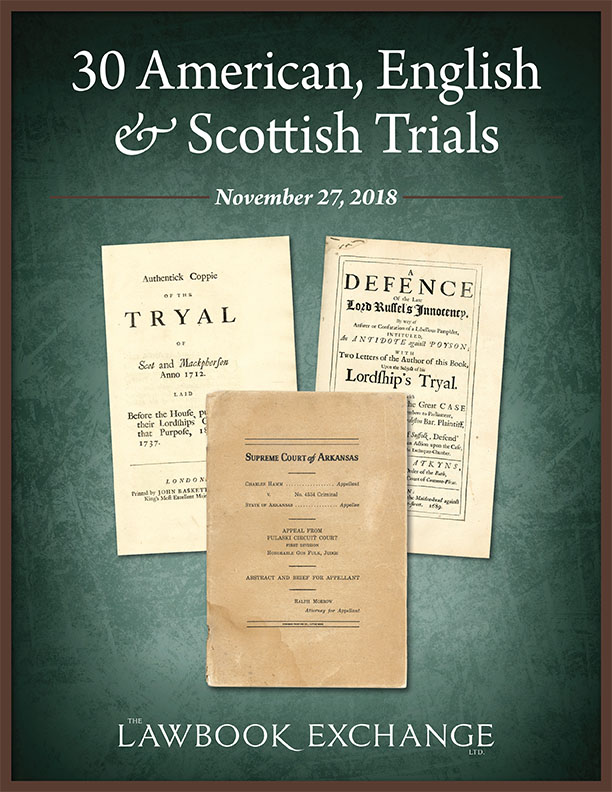 30 American, English & Scottish Trials