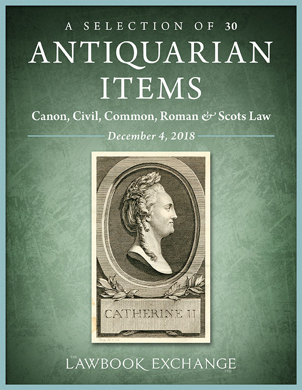 A Selection of 30 Antiquarian Items: Canon, Civil, Common, Roman & Scots Law