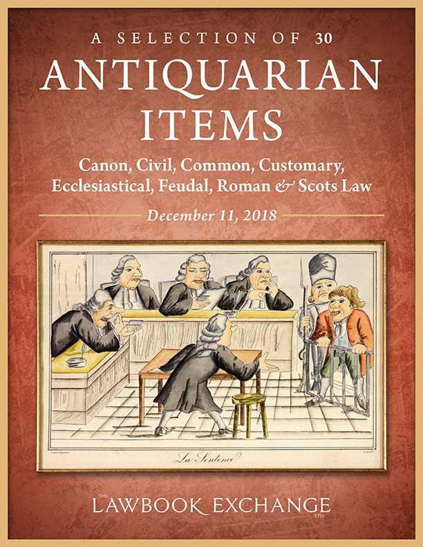 A Selection of 30 Antiquarian Items: Canon, Civil, Common, Customary, Ecclesiastical, Feudal, Roman & Scots Law
