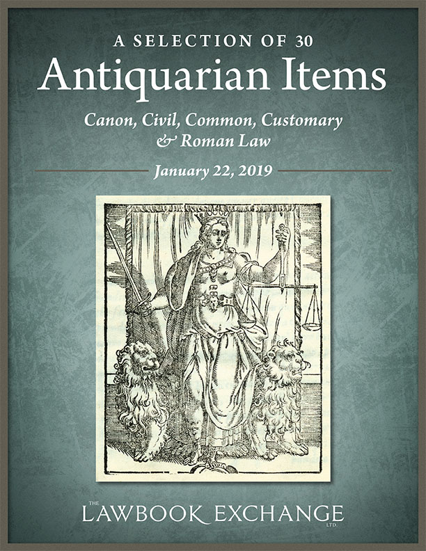 A Selection of 30 Antiquarian Items: Canon, Civil, Common, Customary & Roman Law