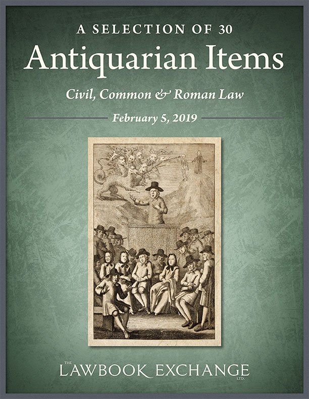 A Selection of 30 Antiquarian Items: Civil, Common & Roman Law
