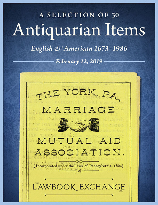 A Selection of 30 Antiquarian Items: English & American 1673-1986