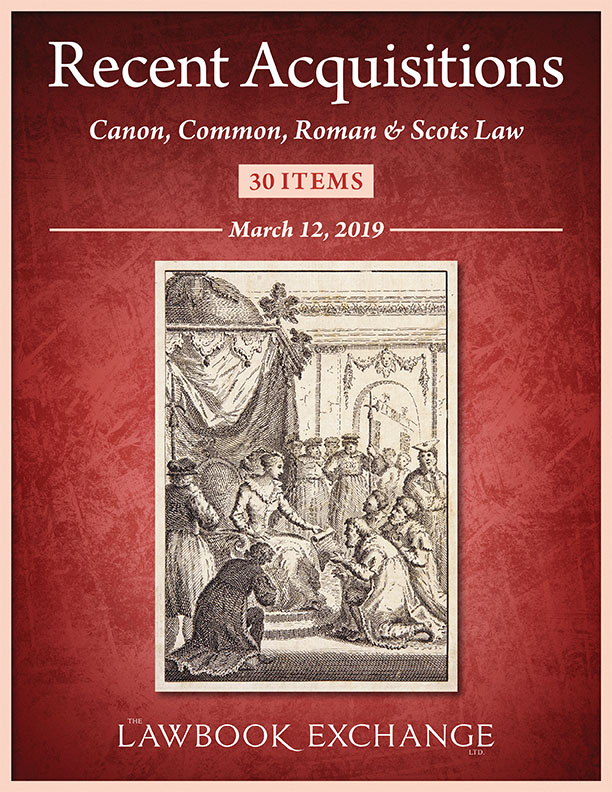 30 Recent Acquisitions: Canon, Common, Roman & Scots Law