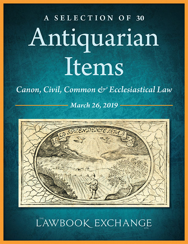 A Selection of 30 Antiquarian Items: Canon, Civil, Common & Ecclesiastical Law