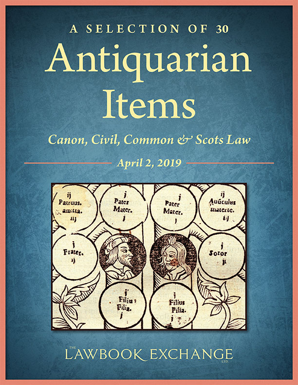 A Selection of 30 Antiquarian Items: Canon, Civil, Common & Scots Law