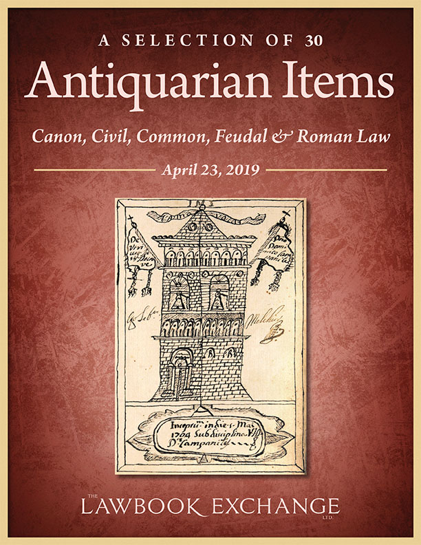 A Selection of 30 Antiquarian Items: Canon, Civil, Common, Feudal & Roman Law