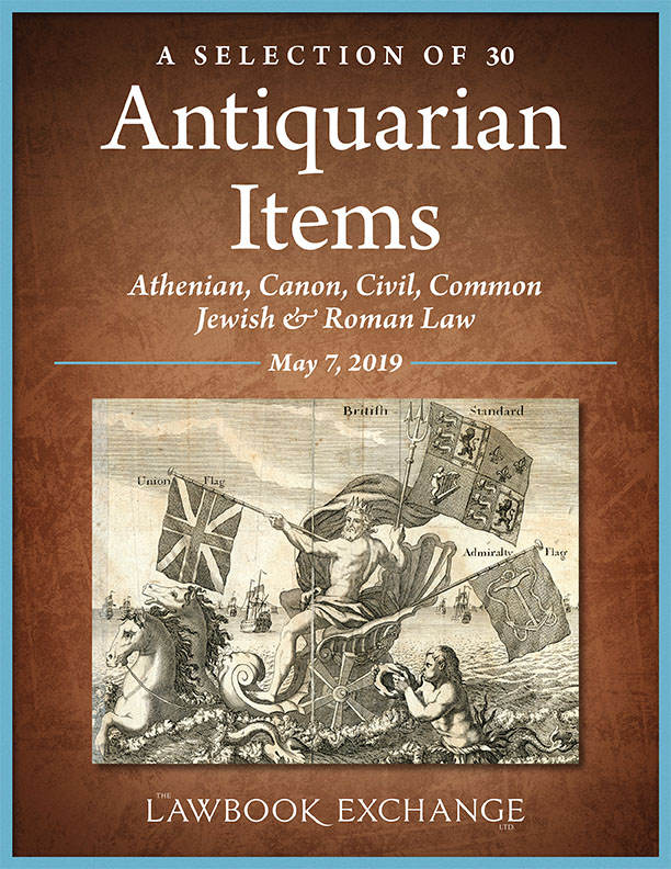 A Selection of 30 Antiquarian Items: Athenian, Canon, Civil, Common, Jewish & Roman Law
