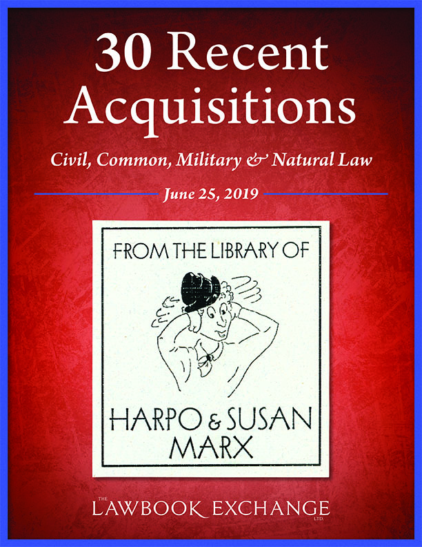 30 Recent Acquisitions: Civil, Common, Military & Natural Law