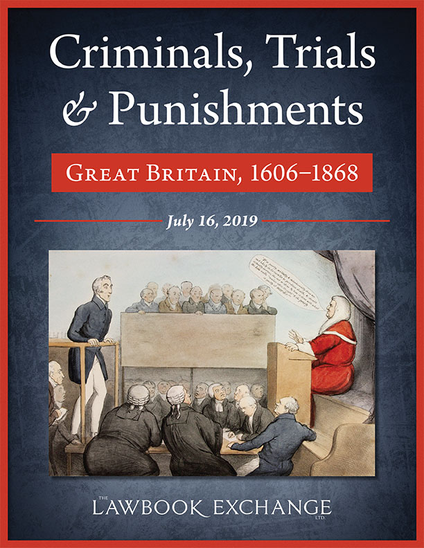 Criminals, Trials & Punishments: Great Britain, 1606–1868