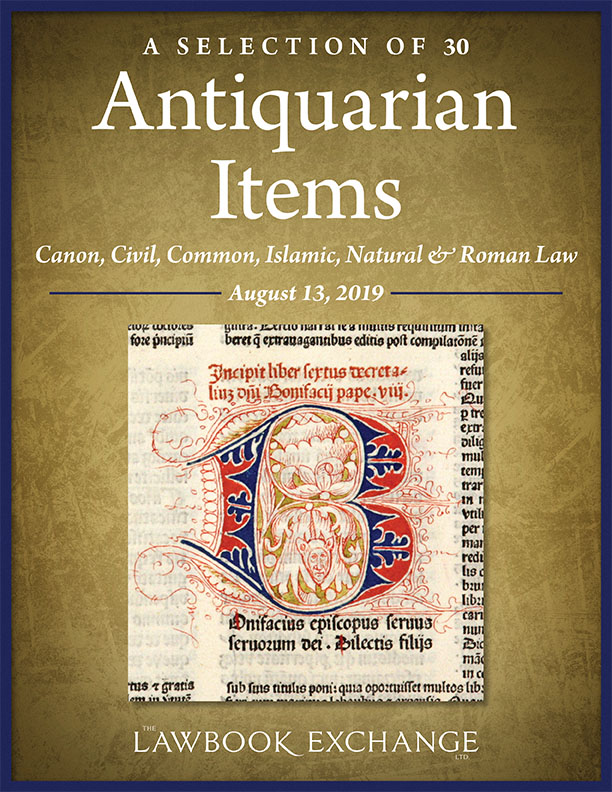 A Selection of 30 Antiquarian Items: Canon, Civil, Common, Islamic, Natural & Roman Law