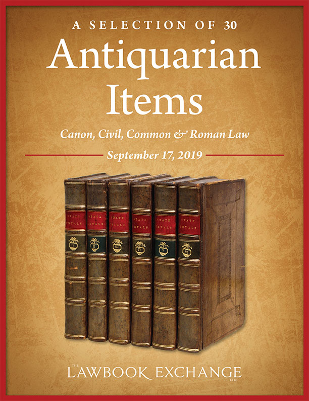 A Selection of 30 Antiquarian Items: Canon, Civil, Common & Roman Law