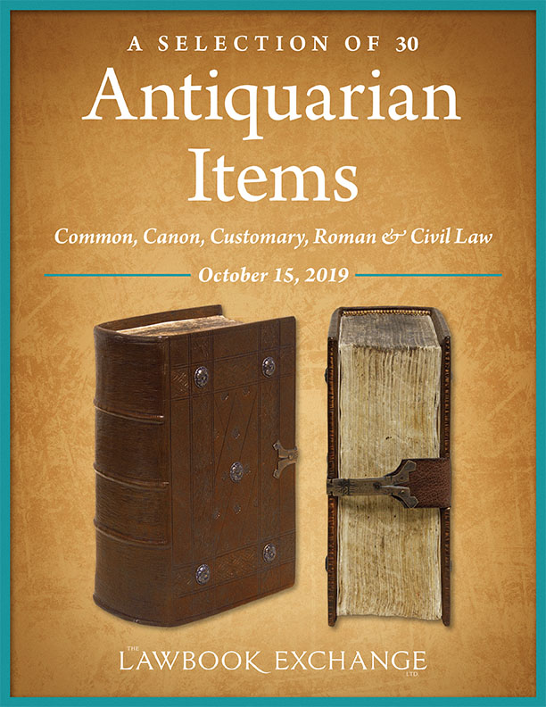 A Selection of 30 Antiquarian Items: Common, Canon, Customary, Roman & Civil Law