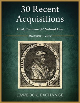 30 Recent Acquisitions: Civil, Common & Natural Law